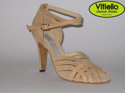 Visualizza lo zoom di Women s dance shoes for Latin-American dances made  with genuine beige bc33f9ac2c2