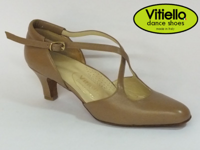 Visualizza lo zoom di Women s dance shoes for Standard dances genuine camel  leather heel 50R and bb9a79a127b