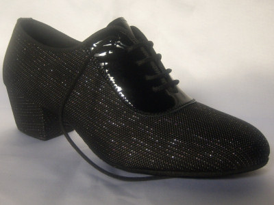 Click here to view image Women's dance shoes for training made in black cloth Jam, heel 40