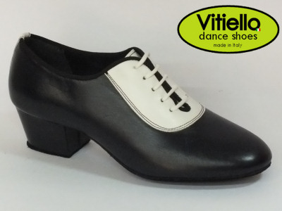 Click here to view image Women's dance shoes for training made in genuine blue leather, heel 40